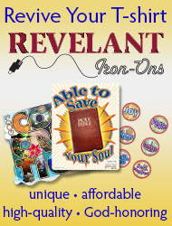 Revive your T-shirt. Revelant Iron-Ons. Unique, affordable, high-quality, God-honoring.
